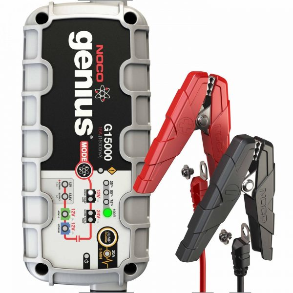 NOCO G15000 15 Amp UltraSafe Battery Charger with JumpCharge Engine Start