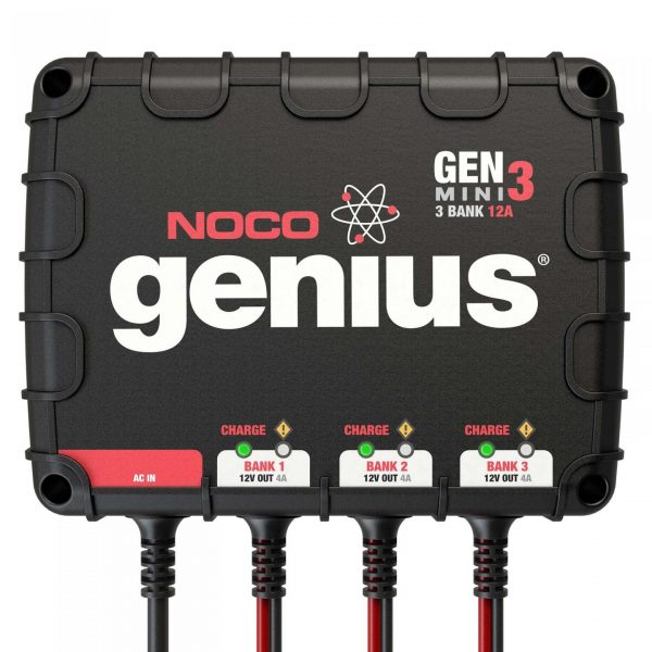 NOCO 3-Bank 12 Amp On-Board Battery Charger