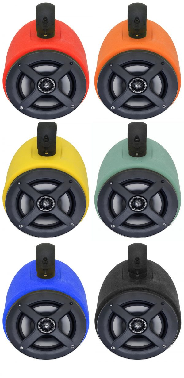 (2) 6.5″ Froghead Wake Tower Tubbie Pods w/ Versatile Mounting Hardware